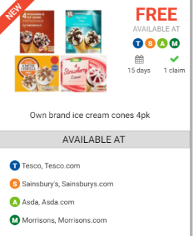 4 free ice creams